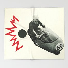 Motorcycle Madness Throw Blanket