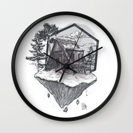 Lonely Snow House Wall Clock