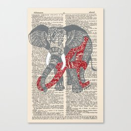 Roll Tide (Alabama Elephant) Canvas Print