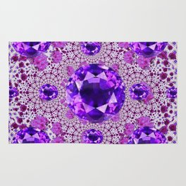 Amethyst Purple Gems February Birthstones Rug