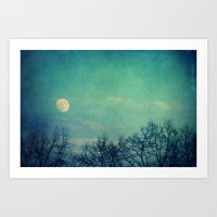 ice Art Prints featuring Ice Moon by Claudia Drossert