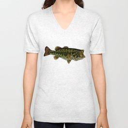 Largemouth Bass Unisex V-Neck