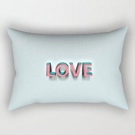 Love,hope,faith 1 Rectangular Pillow