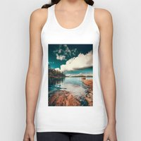 clear Tank Tops featuring Belle Svezia by HappyMelvin