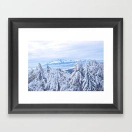 White out #mountains #winter Framed Art Print