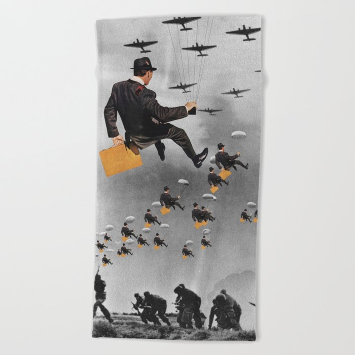 BUSINESS OF WAR Beach Towel