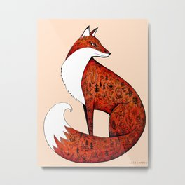 My neighbour the fox Metal Print
