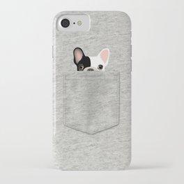 Pocket French Bulldog - Pied iPhone Case