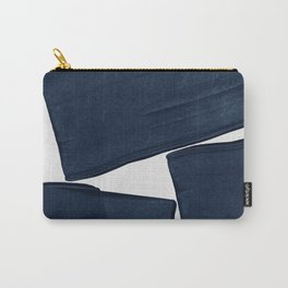 Minimalist Painting Blue III, Mid Century Modern Carry-All Pouch