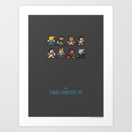 Mega Final Fantasy VII Art Print