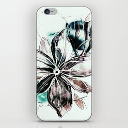b floral iPhone Skin