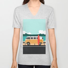 Road Trip on Van Unisex V-Neck