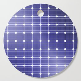 In charge / 3D render of solar panel texture Cutting Board