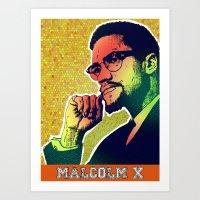 Malolm X Art Print