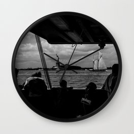 Ferry, Liberty & Silhouettes Wall Clock