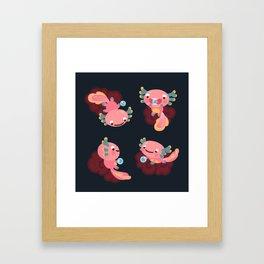 Umpearl the Axolotl Framed Art Print