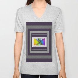 MONOGRAM INITIAL X FLORAL Unisex V-Neck
