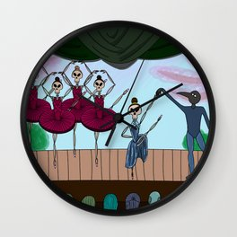 The Night of the Ballet Wall Clock