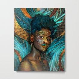 Egyptian Turquoise Jewels for the Bangled Goddess Ayinde Metal Print