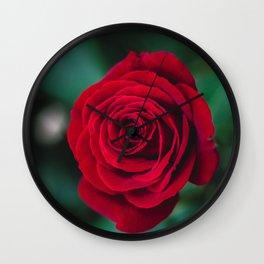 Romantic Red Rose Wall Clock