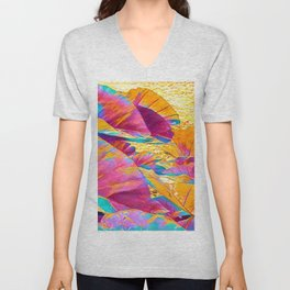 Taro Leaves in Rainbow Aloha Unisex V-Neck