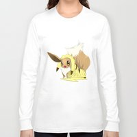 eevee Long Sleeve T-shirts featuring Eevee-licious! by EeekGirl
