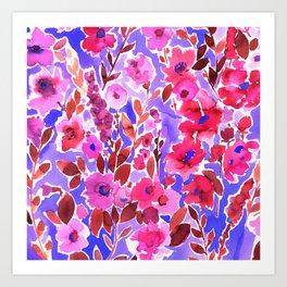 Isla Floral Purple Art Print