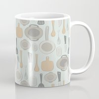 kitchen Mugs featuring kitchen by La Señora