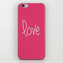 Love In Pink  iPhone Skin
