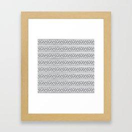 BOHO GEOMETRIC PATTERN Framed Art Print