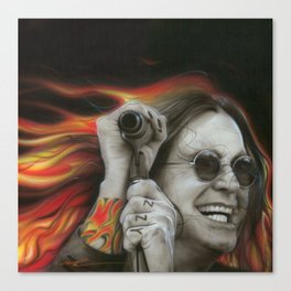 'Ozzy's Fire' Canvas Print