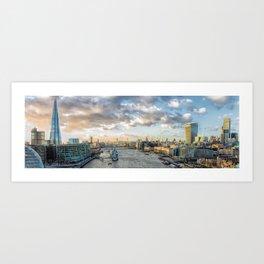 London Panorama Colourful Art Print