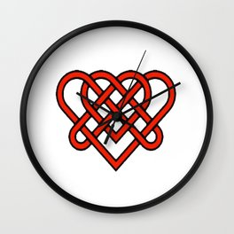 Celtic He Loves Me He Loves Me Knot Wall Clock