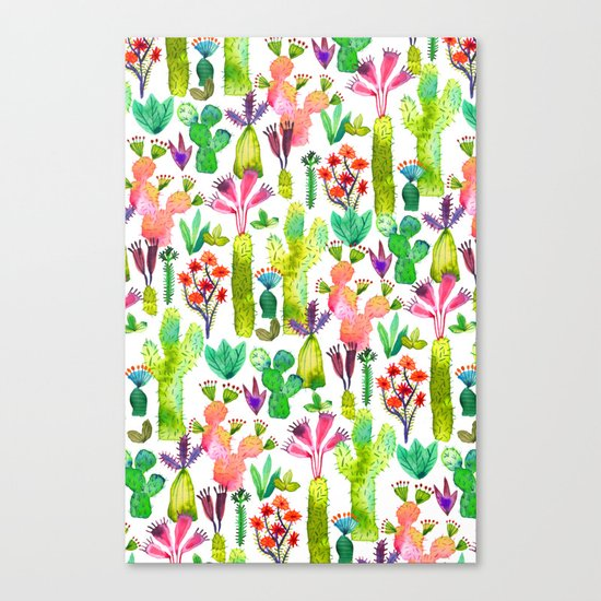 Cacti garden Canvas Print