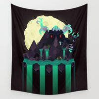 attack on titan Wall Tapestries featuring Moonlit Titan by badOdds
