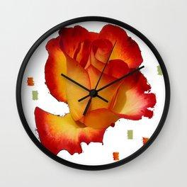 V Rose   (A7 B0089) Wall Clock
