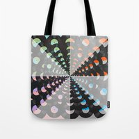records Tote Bags featuring Records by Ornaart
