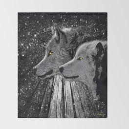 WOLF ENCOUNTER #2 Throw Blanket