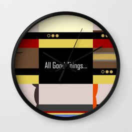 TNG - All Good Things - Minimalist Star Trek TNG The Next Generation 1701 D  startrek  Trektangles Wall Clock