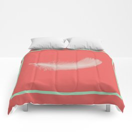 Coral Feather  Comforters