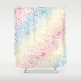 mostly harmless - rainbow Shower Curtain