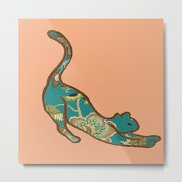 I love you, Kitten - Peach Metal Print