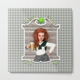 Sassy Rose Irish Pub Metal Print