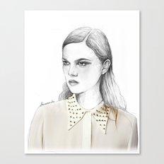 stud collar Canvas Print