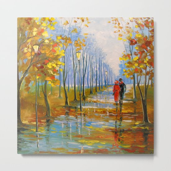 A walk in the Park after the rain Metal Print