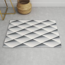 FISH SKIN SCALES ART PATTERN GRAY SCALE Rug