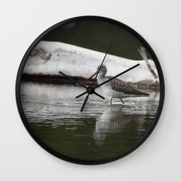 Greater Yellowleg Wall Clock