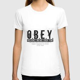 O.B.E.Y. (Obedience Breaks Every Yoke) T-shirt