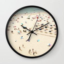 European Beach Day Wall Clock