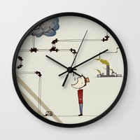 cycle Wall Clocks featuring cycle by bri musser
